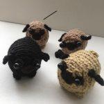 Mini Crochet Pugs