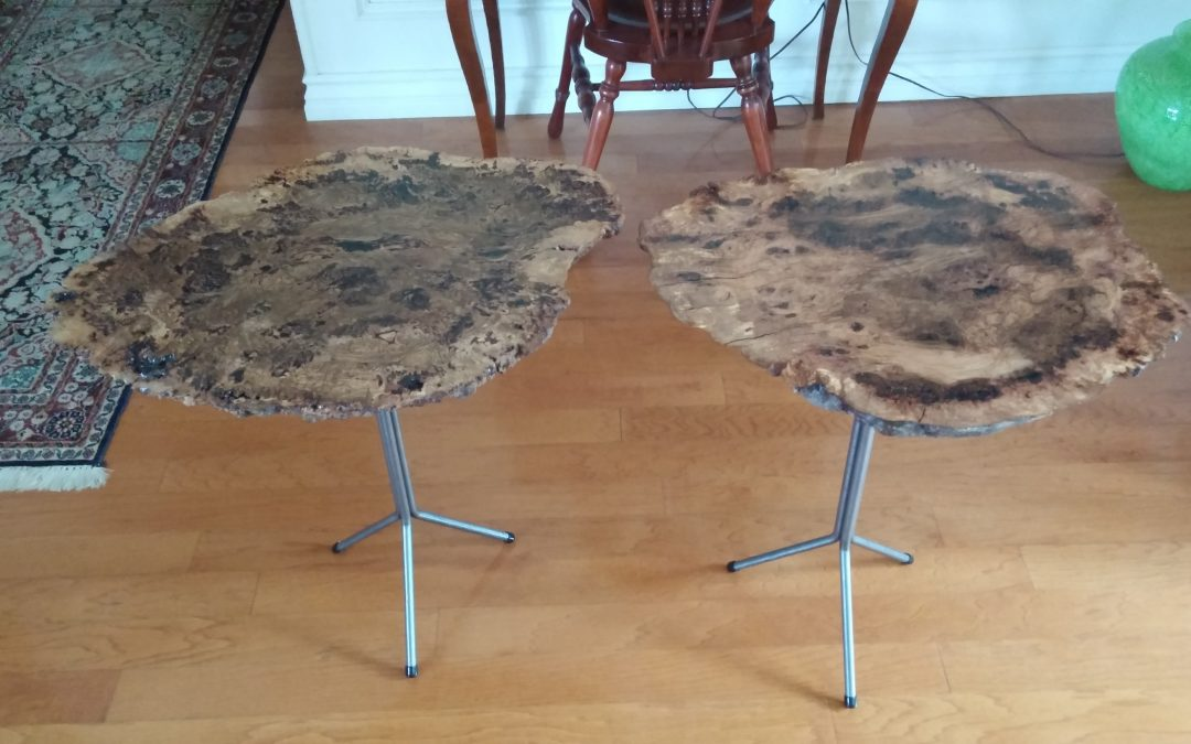 Oak Burl End Tables