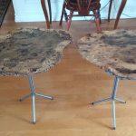 Oak Burl End Tables