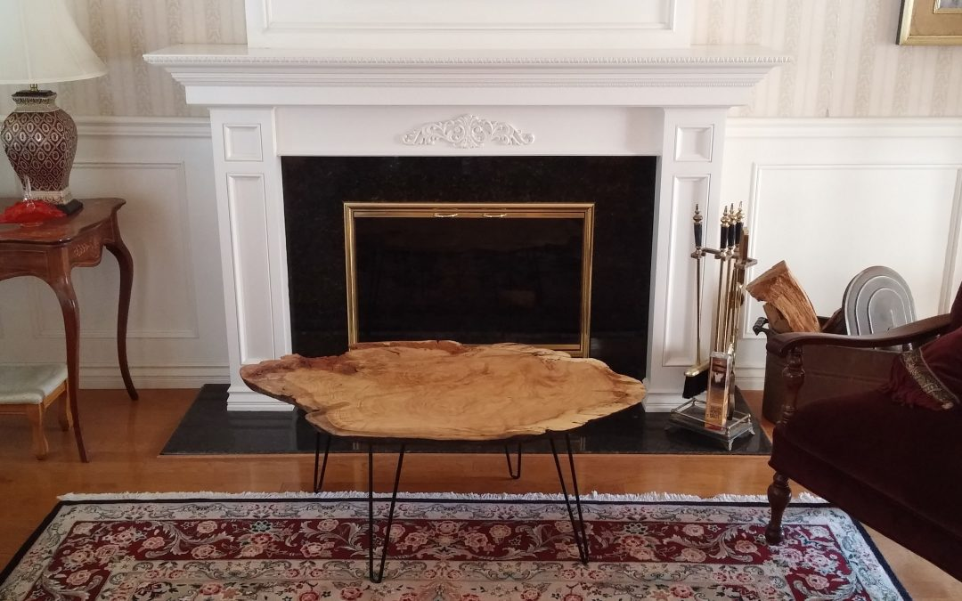 Large Oak Burl Coffee Table