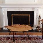 Large Oak Burl Coffee Table