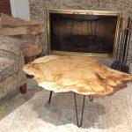Small Oak Burl Coffee Table